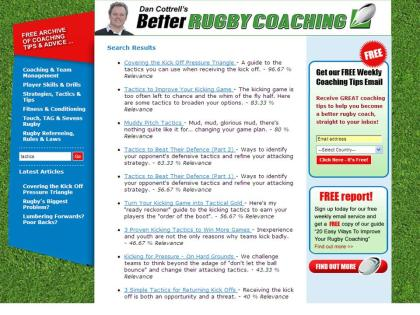 "Better Rugby Coaching search for ""rugby tactics"""